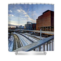University Of Minnesota Shower Curtain by Amanda Stadther