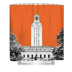 University Of Texas - Coral Shower Curtain