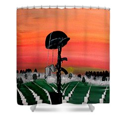 Unknown Hero Shower Curtain by Mark Moore