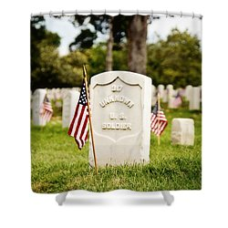 Unknown U.s. Soldier Shower Curtain by Scott Pellegrin