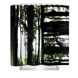 Unnatural 55 Shower Curtain by Giovanni Cafagna