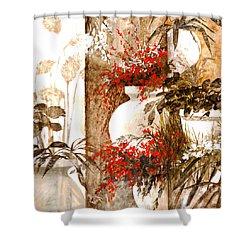 Uno Bianco Shower Curtain by Guido Borelli
