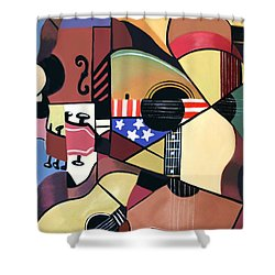 Unpluged Shower Curtain by Anthony Falbo