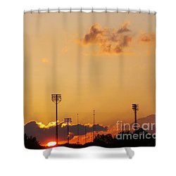 Cemetery Sunset Shower Curtain