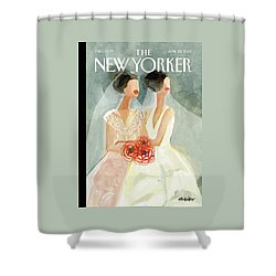 June Brides Shower Curtain