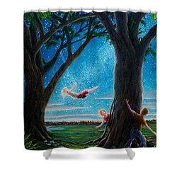 Shower Curtain featuring the painting Innocence  by Matt Konar