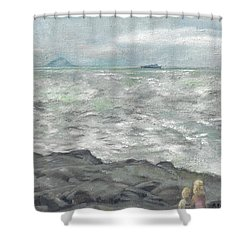 Untitled Seascape Shower Curtain