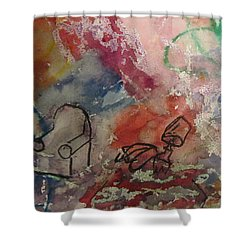 Untitled Watercolor 1998 Shower Curtain