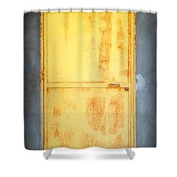 Unused Door Shower Curtain by Clare Bevan