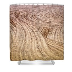 Non Level Playing Field Shower Curtain by Kellice Swaggerty