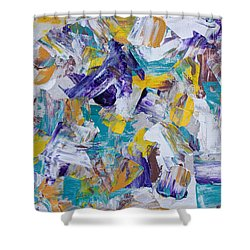 Shower Curtain featuring the painting Unwinding by Heidi Smith