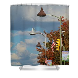 Unwrapped Wrapped Unwrapped Wrapped And On And On Shower Curtain by Mark Dodd
