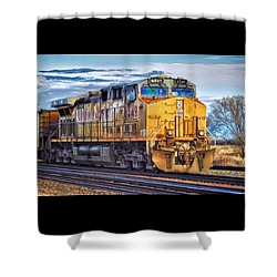 Up 6549 Shower Curtain by Bill Kesler