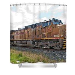 Up 7138 Galveston Texas Shower Curtain by John Black