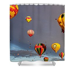 Shower Curtain featuring the photograph Up And Away by Dave Files