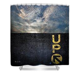 Up At Sunrise Shower Curtain by Bob Orsillo