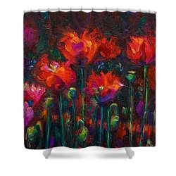 Up From The Ashes Shower Curtain by Talya Johnson