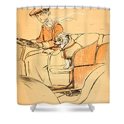 Up Front Shower Curtain by Cecil Charles Windsor Aldin