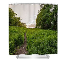 Up Hill Shower Curtain