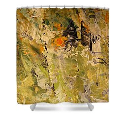 Shower Curtain featuring the painting Up In The Air by Nancy Kane Chapman
