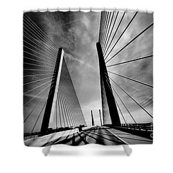 Shower Curtain featuring the photograph Up N Over by Robert McCubbin