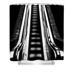 Up Or Down Shower Curtain by Mark Alder