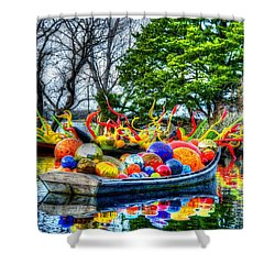 Up The Creek Without A Paddle Shower Curtain by Debbi Granruth