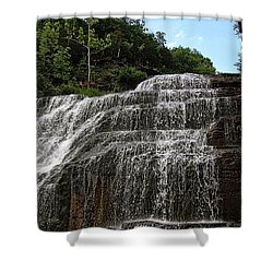 Up The Falls Shower Curtain