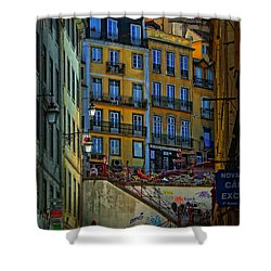 Up The Stairs - Lisbon Shower Curtain