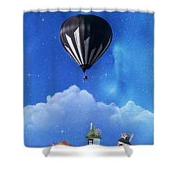 Up Through The Atmosphere Shower Curtain by Juli Scalzi