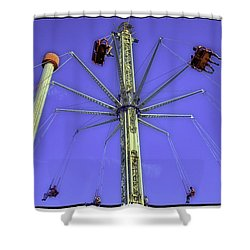 Up Up And Away 2013 - Coney Island - Brooklyn - New York Shower Curtain by Madeline Ellis