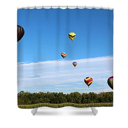 Up Up And Away Shower Curtain by George Jones