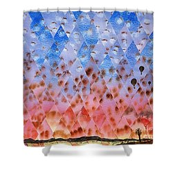 Up Up And Away Shower Curtain by Jeni Bate