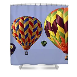 Up Up And Away Shower Curtain by Marcia Colelli