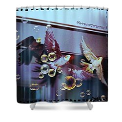 Updraft The Trio Flying Shower Curtain