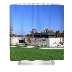 Upj Engineering Hall Shower Curtain
