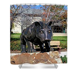 Upj Panther Shower Curtain