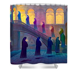 Uplifting Prayer Shower Curtain