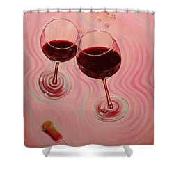 Shower Curtain featuring the painting Uplifting Spirits II by Sandi Whetzel
