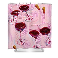 Shower Curtain featuring the painting Uplifting Spirits  by Sandi Whetzel