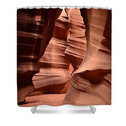 Upper Antelope Canyon In Arizona Shower Curtain by DejaVu Designs