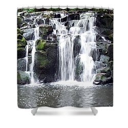 Shower Curtain featuring the photograph Upper Beaver Falls by Chalet Roome-Rigdon