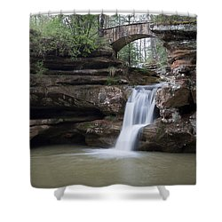 Upper Falls At Old Mans Cave II Shower Curtain