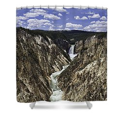 Lower Falls Of Yellowstone River Shower Curtain