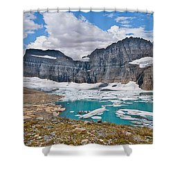 Upper Grinnell Lake And Glacier Shower Curtain