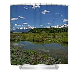 Upper Management Shower Curtain by Jeremy Rhoades