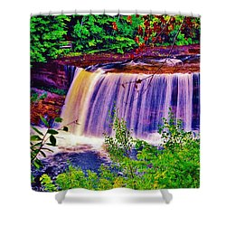 Shower Curtain featuring the photograph Upper Tahquamenon Falls  by Daniel Thompson