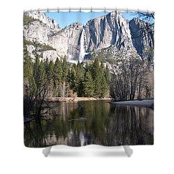 Upper Yosemite Fall Shower Curtain