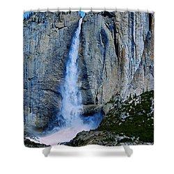 Upper Yosemite Falls Shower Curtain by Eric Tressler