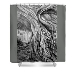 Uprising To Heaven  Shower Curtain
